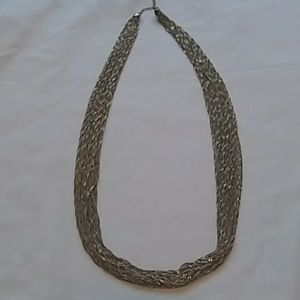 "Beautiful Twisted Gold Tone 30 Chain 16"" Necklace"